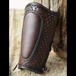 protector cuero para tiro con arco marrón