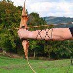 protector de brazo de cuero para tiro con arco